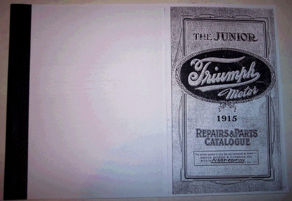 Manual 1915 Junior Triumph spares